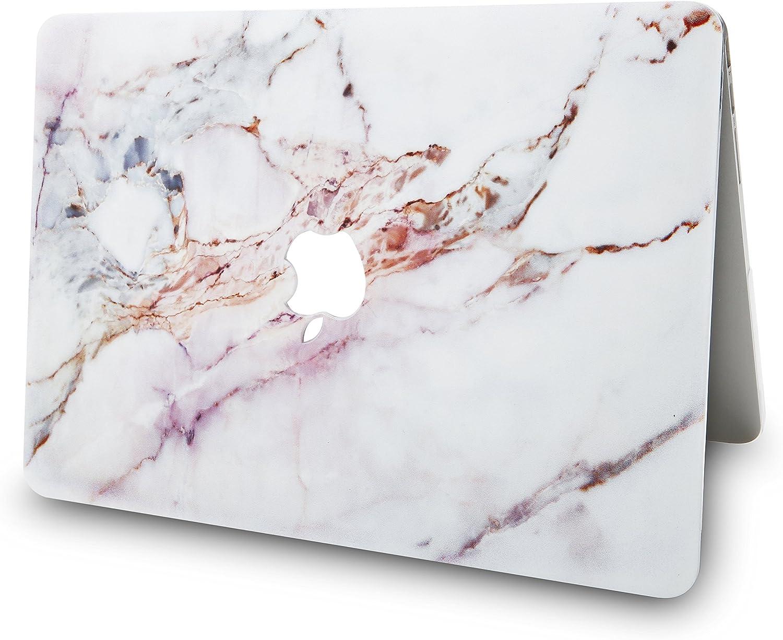 M/ármol Blanco 4 Pulgadas Funda Dura Case Cover Viejo MacBook Pro 16 Ultra Delgado Cuero{A2141} KECC MacBook Pro 16 2020//2019