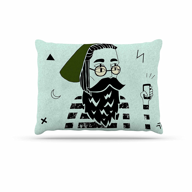 KESS InHouse Anya Volk Dreamer2 Green Digital Dog Bed, 50  x 40