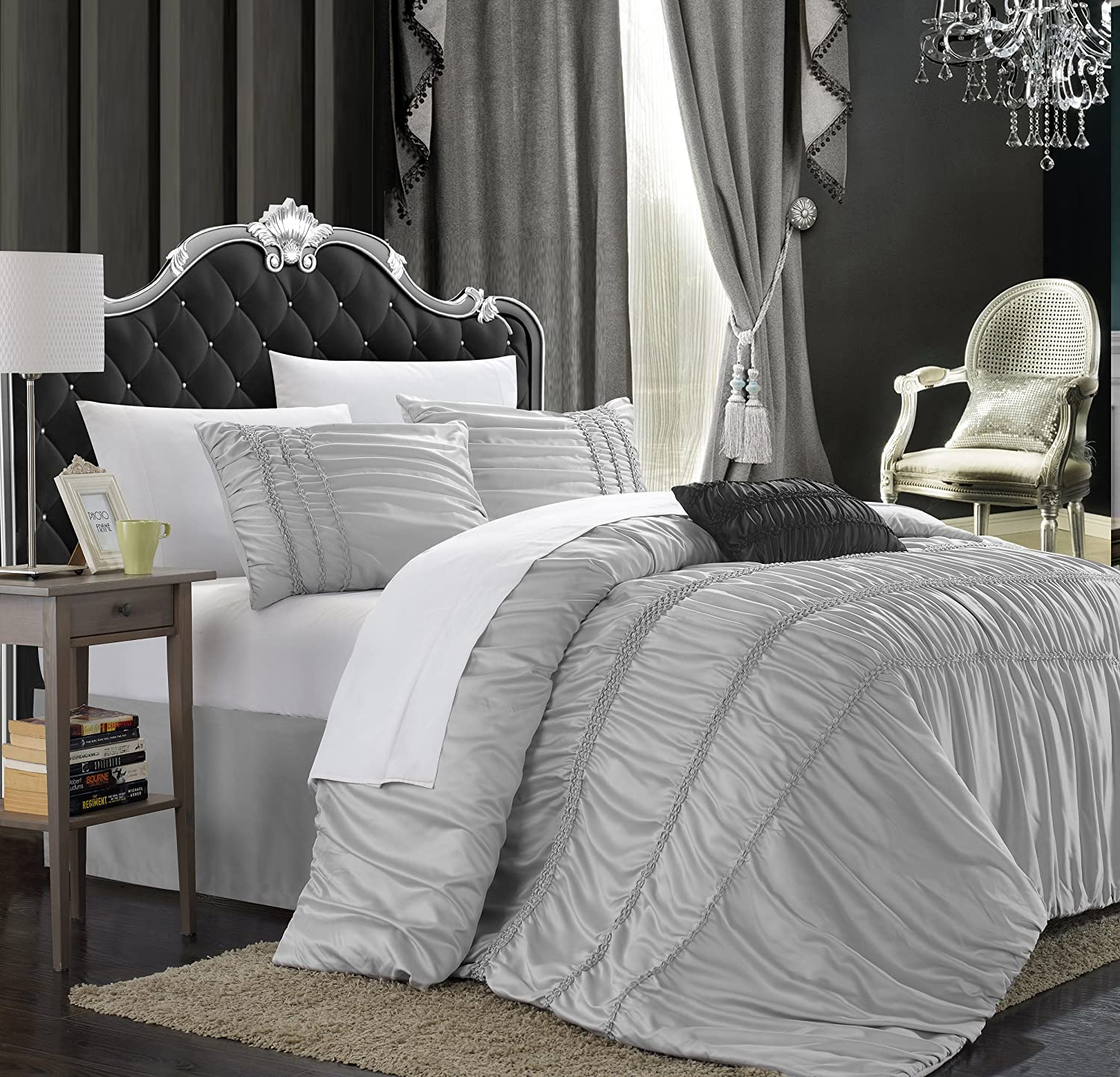 new zi comforter j p dillards york silver queen set guiliana