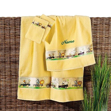 Incluido Baby Butt toalla de tamaño bordado de tejido de rizo sol 70 x 140 cm