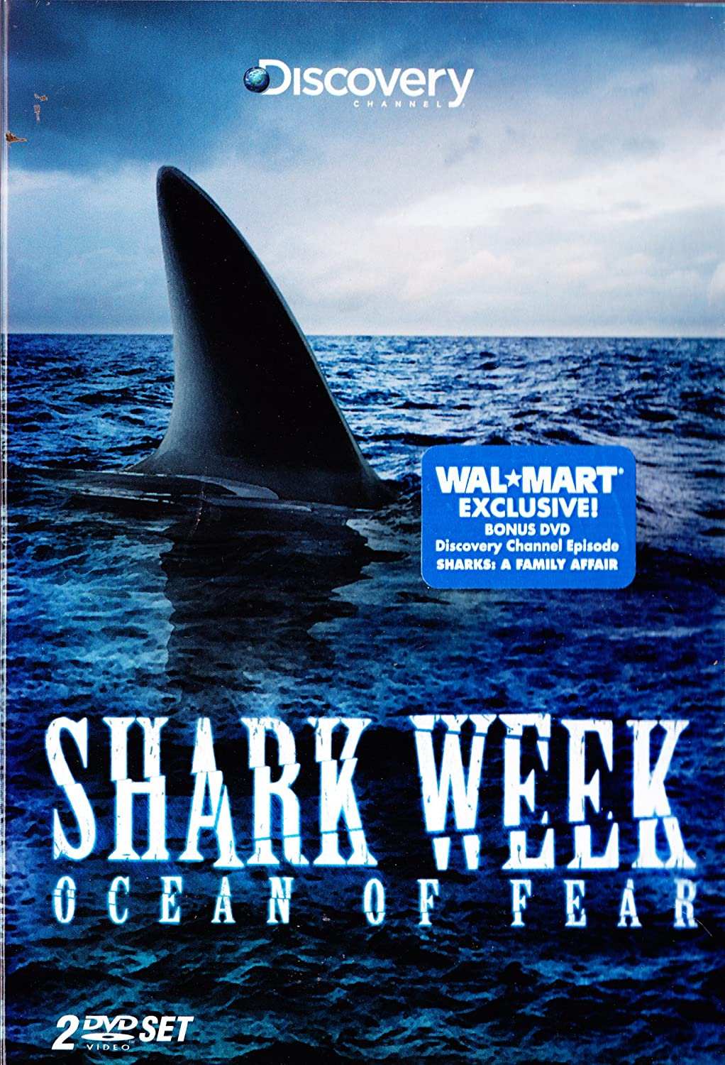 Discovery Channel Shark Week Limited Edition 3 DVD SET : 7 Episode Collection : Sharks a Family Affair , Ocean of Fear , Perfect Predators , Shark Tribe , Top Five Eaten Alive , Shark Feeding Frenzy , Sharkman : Walmart Exclusive Edition with Bonus Disc : Widescreen Edition