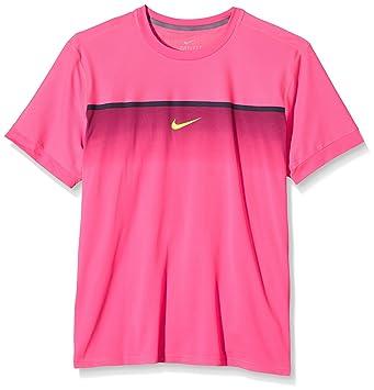 sale retailer 4faf4 1d9d0 Nike Challenger t-Shirt à Manches Courtes pour Homme Haute rafa Crew XXL  Rose -