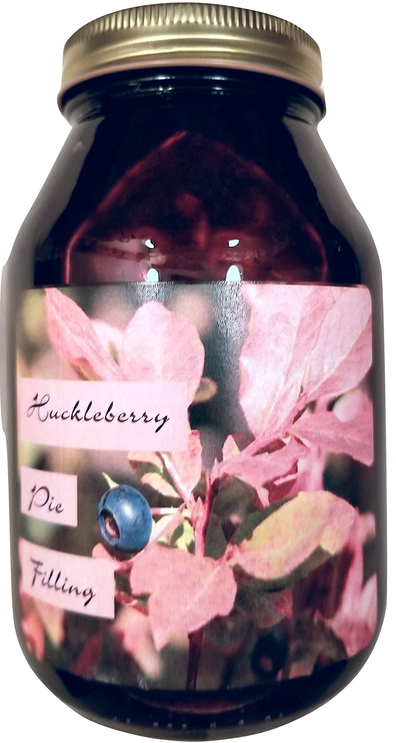 Huckleberry Pie Filling Montana Grown - 20 oz Real Fruit Grown & Hand Picked from Bounty Foods this is Vegan Friendly | Gluten-Free | Non-GMO for Pies - Cobblers - Toppings or Desserts (Huck 20oz) by Bounty Foods
