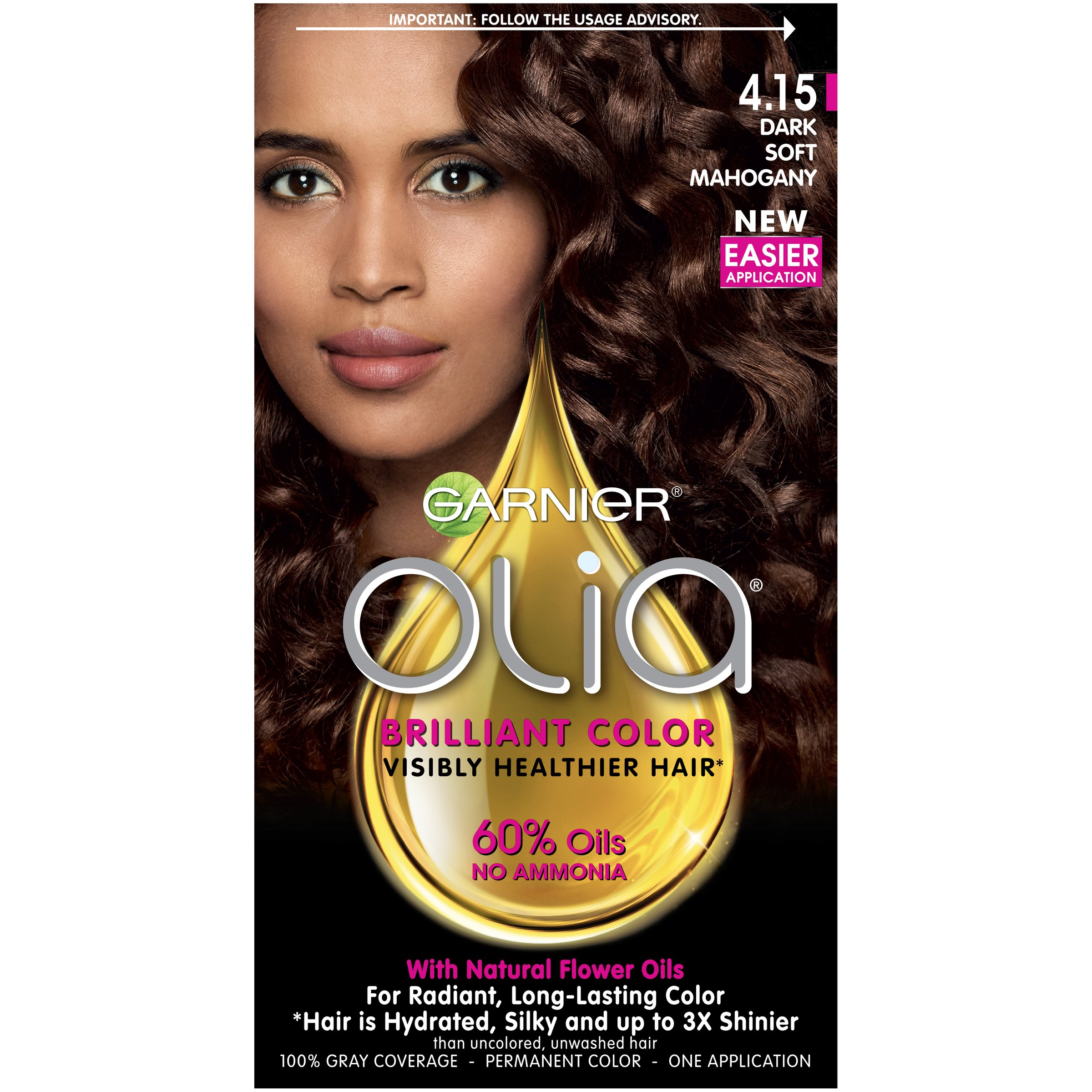 Amazon Garnier Olia Hair Color 460 Dark Intense Auburn
