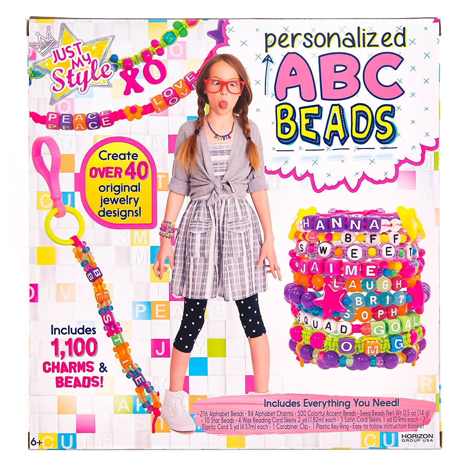 amazon com just my style abc beads by horizon group usa toys u0026 games