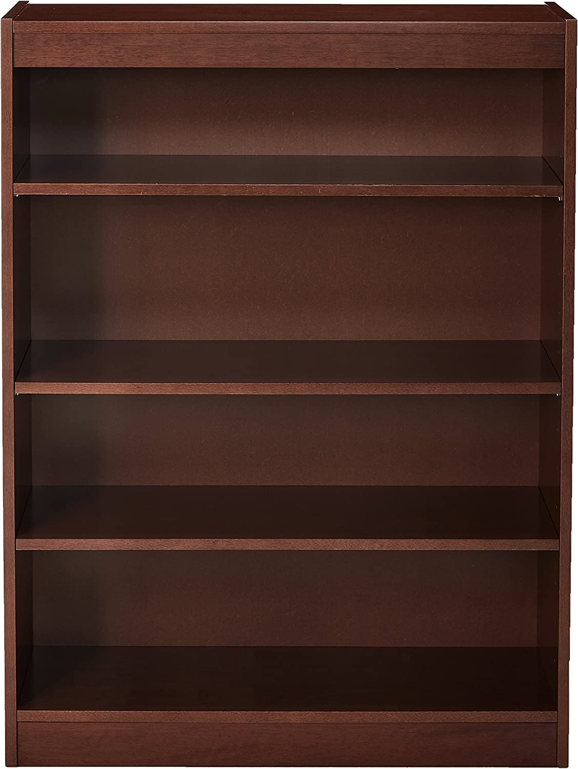 Lorell 4-Shelf Panel Bookcase, 36 by 12 by 48-Inch, Cherry