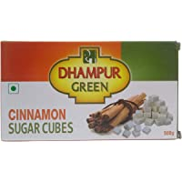 Dhampur Green Sugar Cubes - Cinnamon, 500g Carton