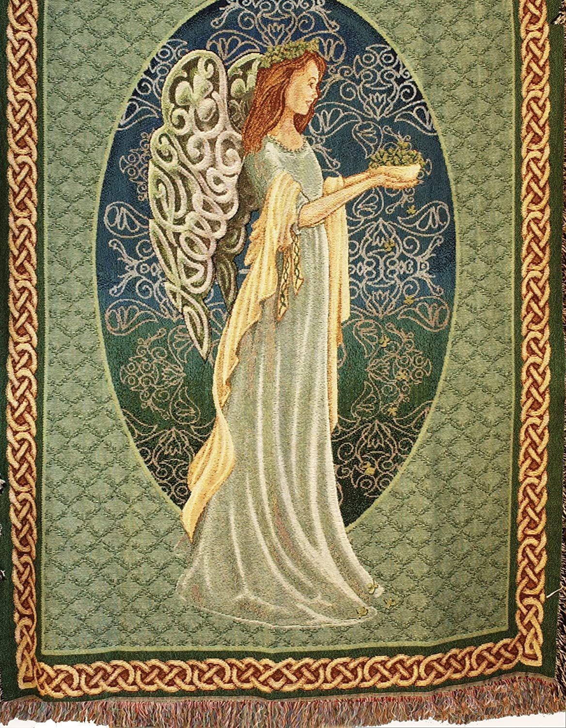 Manual Inspirational Collection 50 x 60-Inch Tapestry Throw, Irish Angel