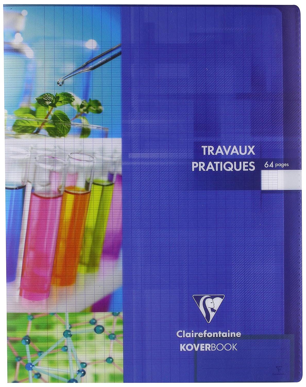 Clairefontaine Koverbook 950420C Quaderno rilegato di 64pagine a quadretti grandi e tinta unita in Cover Plastica 90g 17x 22cm colore casuale 950420C