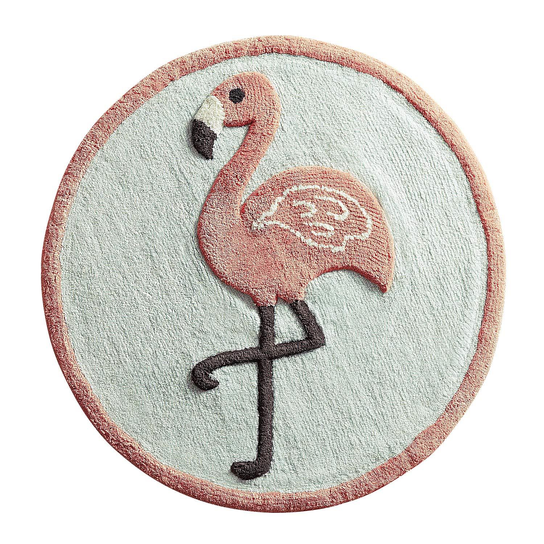 Pier 1 Imports Flamingo Round Bath Rug Bathroom Shower Mat