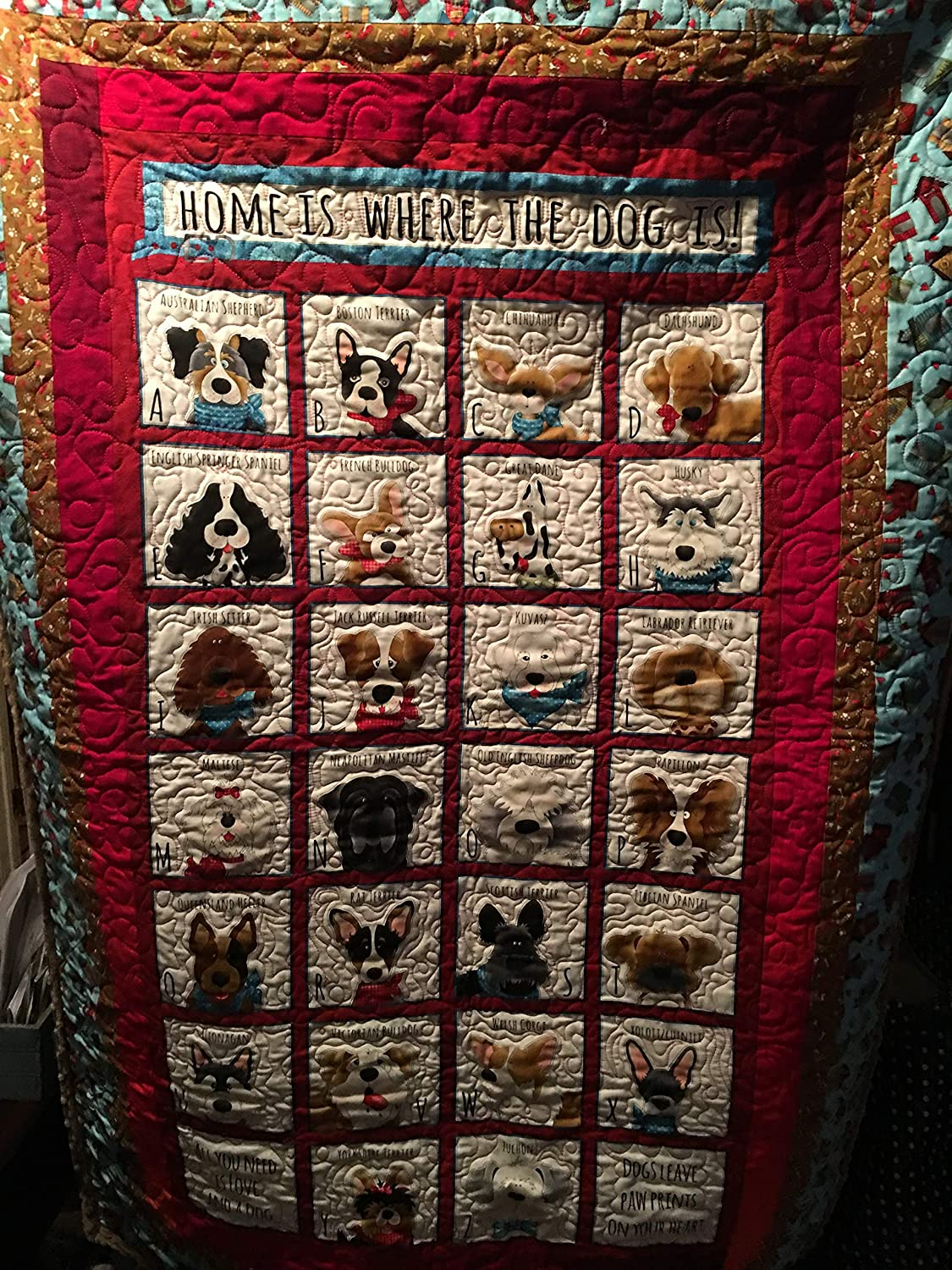 Image of Alphabet Dog Quilt Home and Kitchen