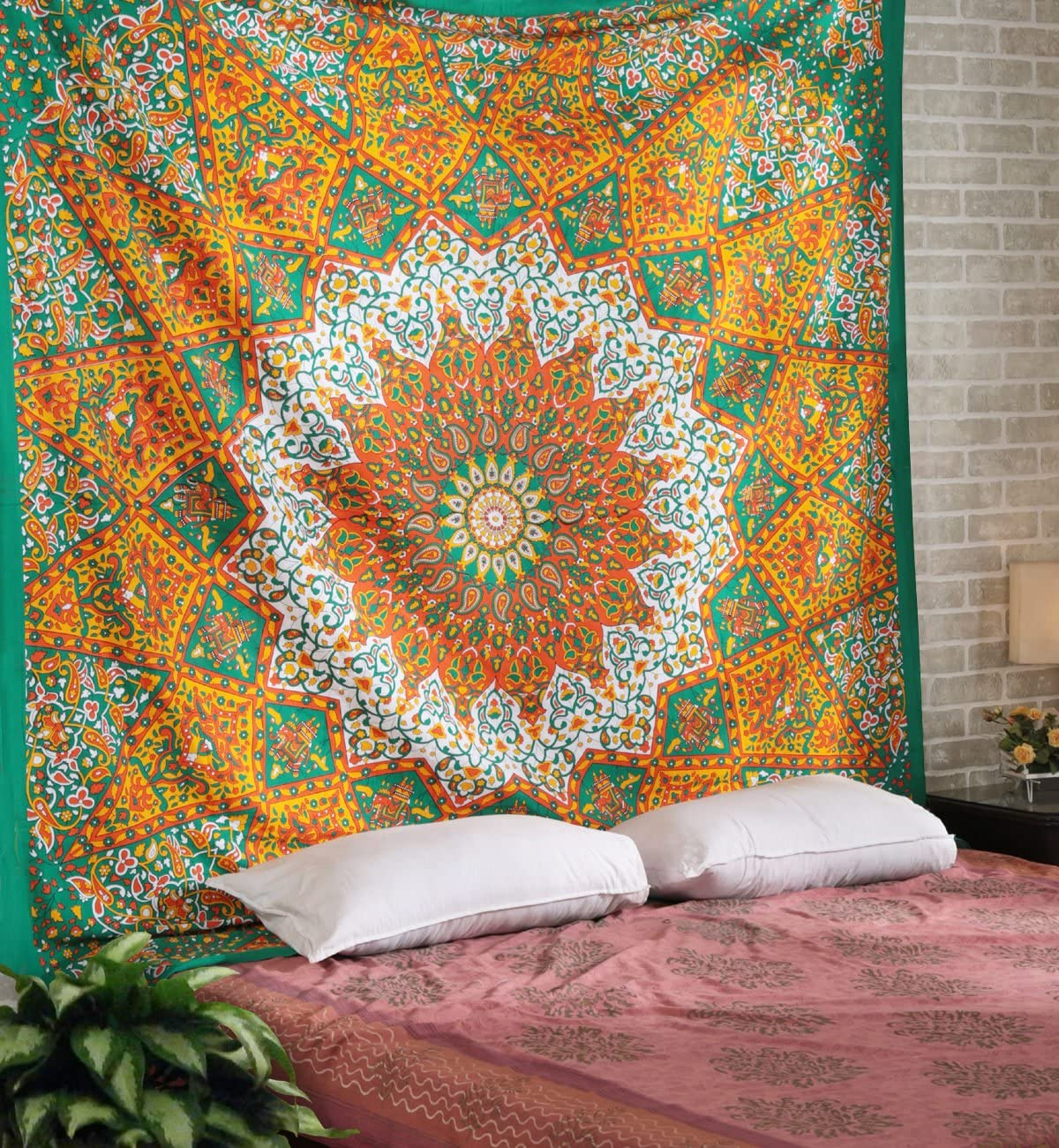 Indian mandala tapestry cotton tapestry size beds multi color decor throw star