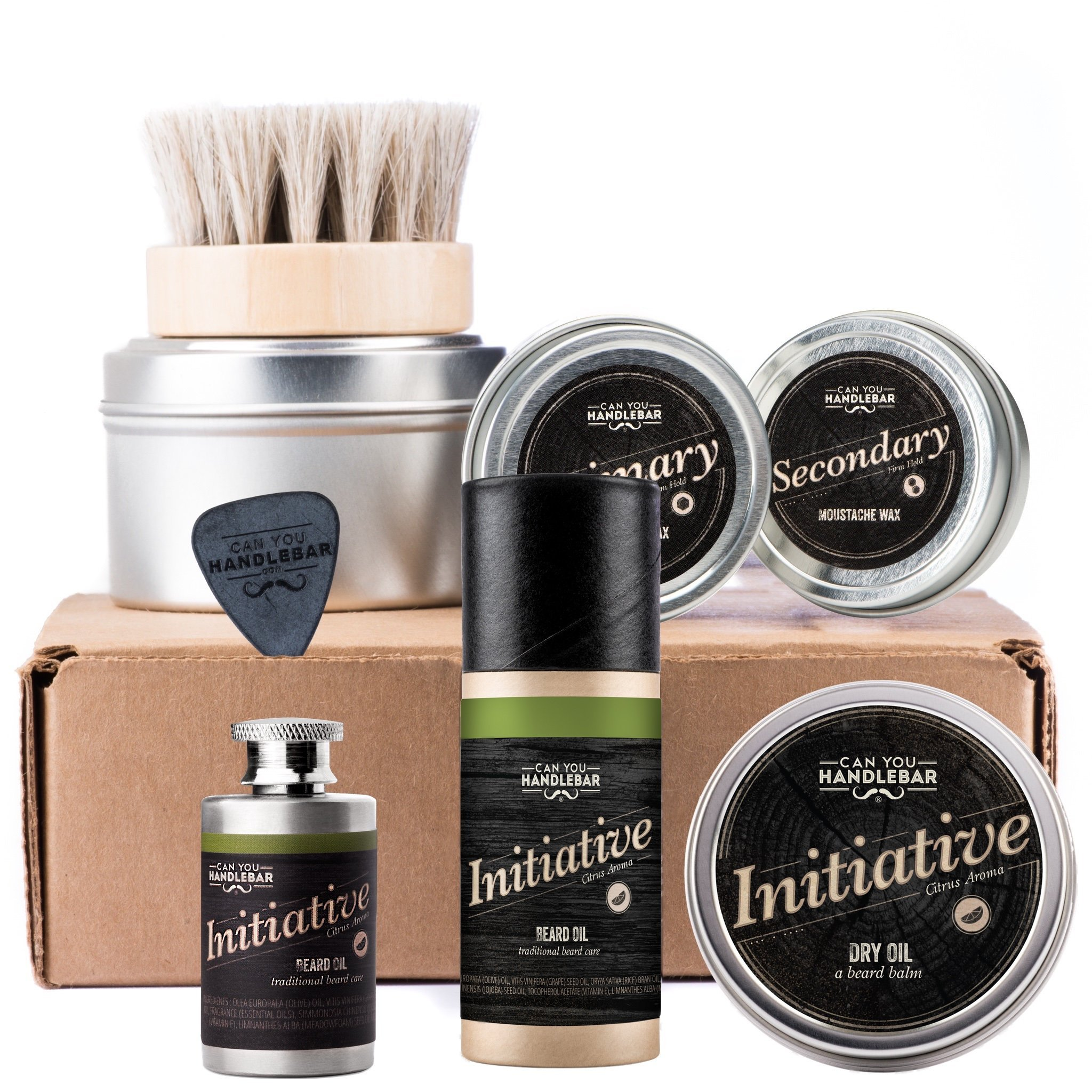 Ultimate Beard Care Kit For Men - Initiative Citrus Lavender Aroma - Made in USA by CanYouHandlebar