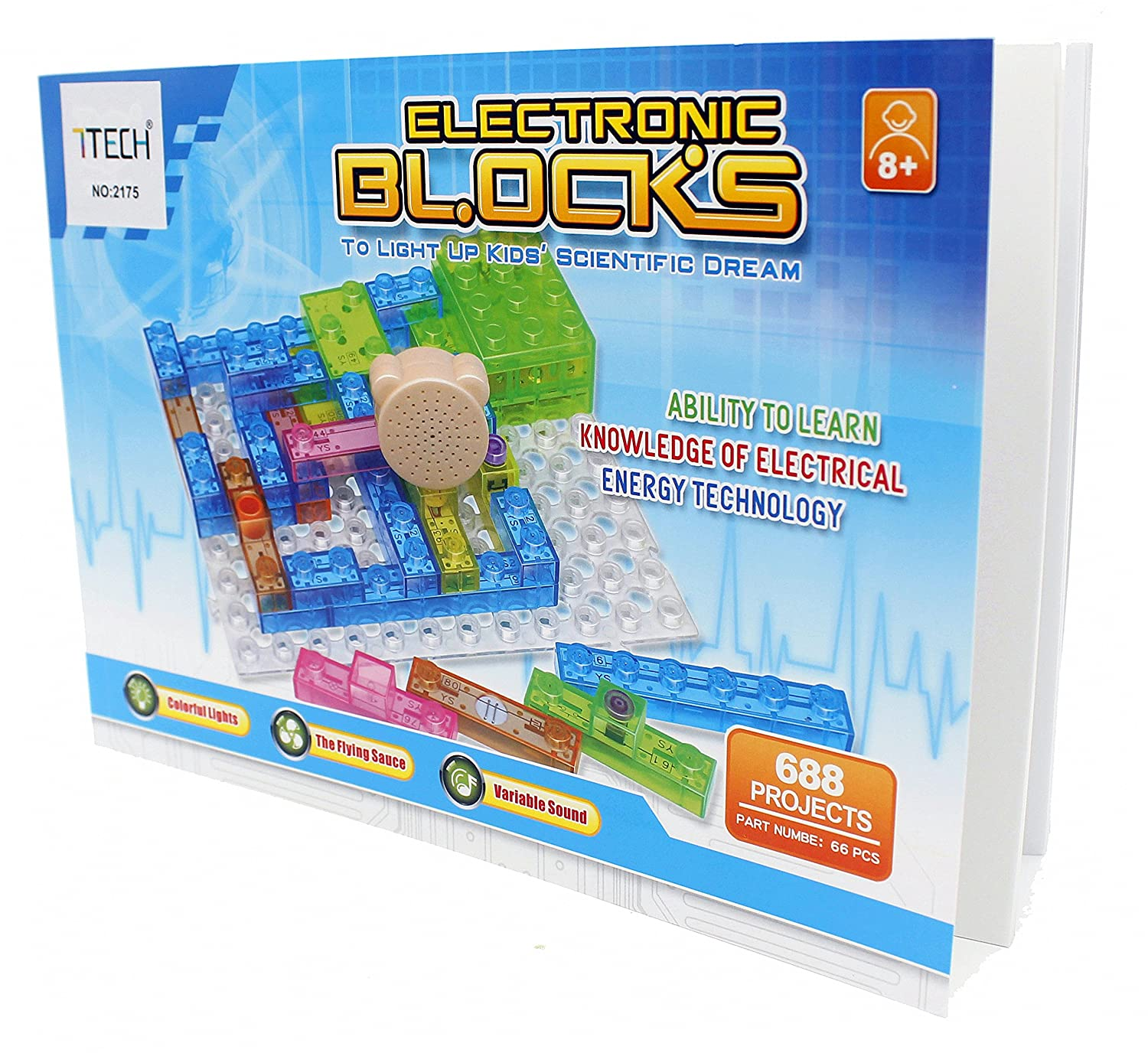 7tech Electronic Building Blocks 688 Spell Projects Diy Handson Squishy Circuit Electricity For Kids Circuits Electric Block Kit Educational Science Toy Toys Games