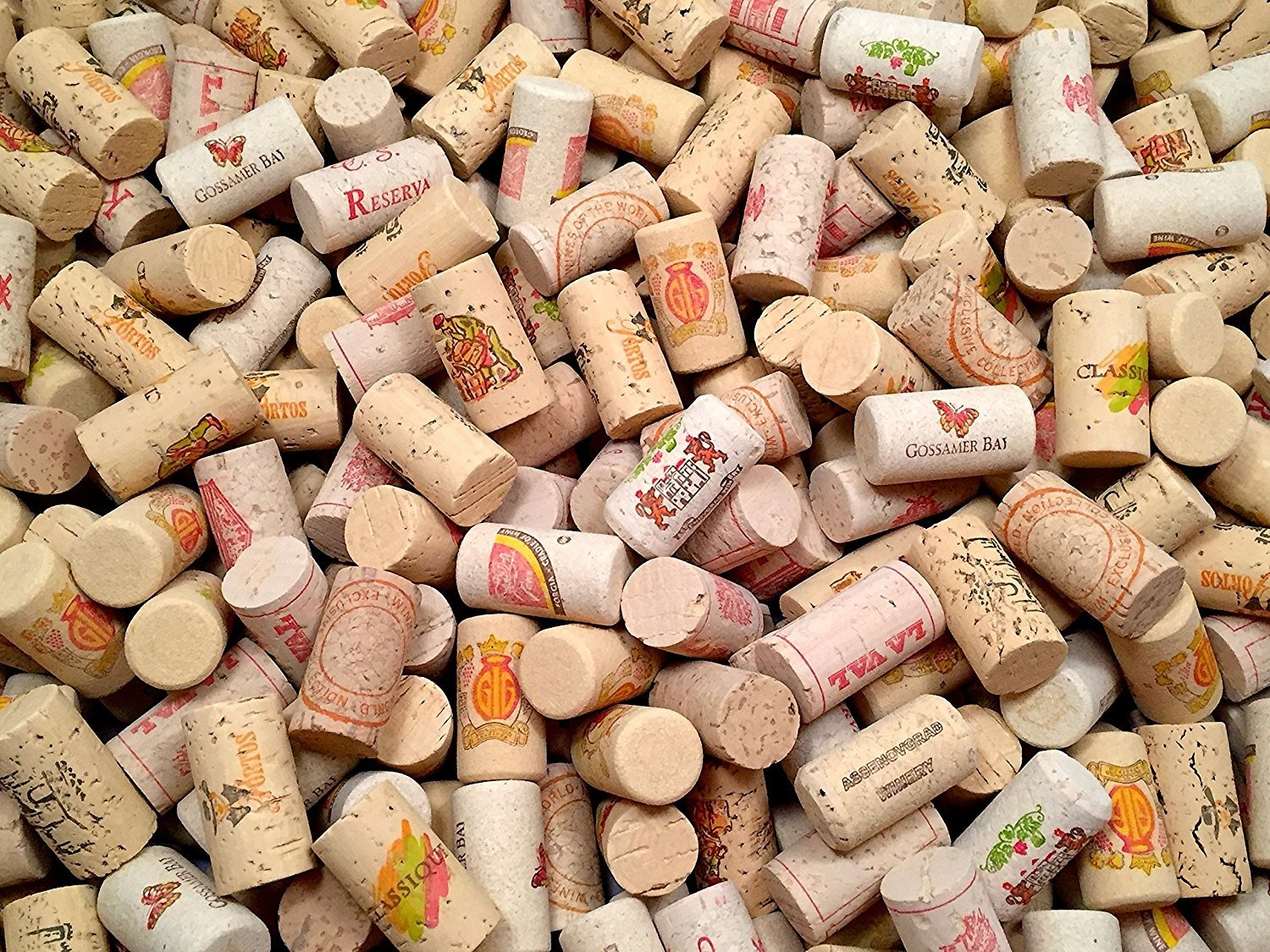 COLOR Wine Corks | Brand New, Authentic, All Natural | Printed, Winery-Marked, Craft Grade | Uncirculated, Uniform & Clean | Excellent for Crafting & Decor | Pack of 25/50/100 Premium Wine Cork (50) by Omni Trading Worldwide (Image #3)