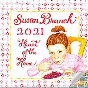 Susan Branch Heart of The Home Calendar 2021 Bundle - Deluxe 2021 Heart of The Home Mini Calendar with Over 100 Calendar Stickers