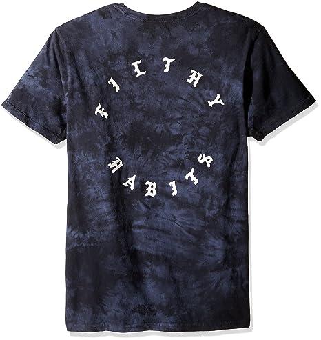 21b17f51 Billabong Men's 'Wish You Were Here' T-Shirt in Black/Deep Purple Tie-Dye