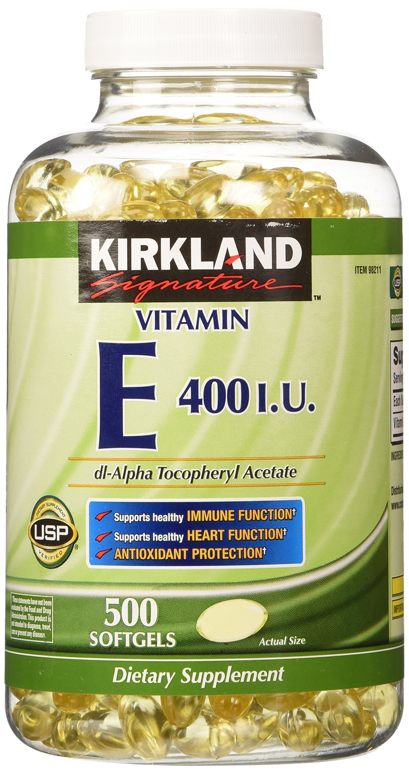 vitamin kirkland signature 400 capsules oil amazon softgels 500 bottle vitamins iu tablets mg complex health d3 supplements strength brand