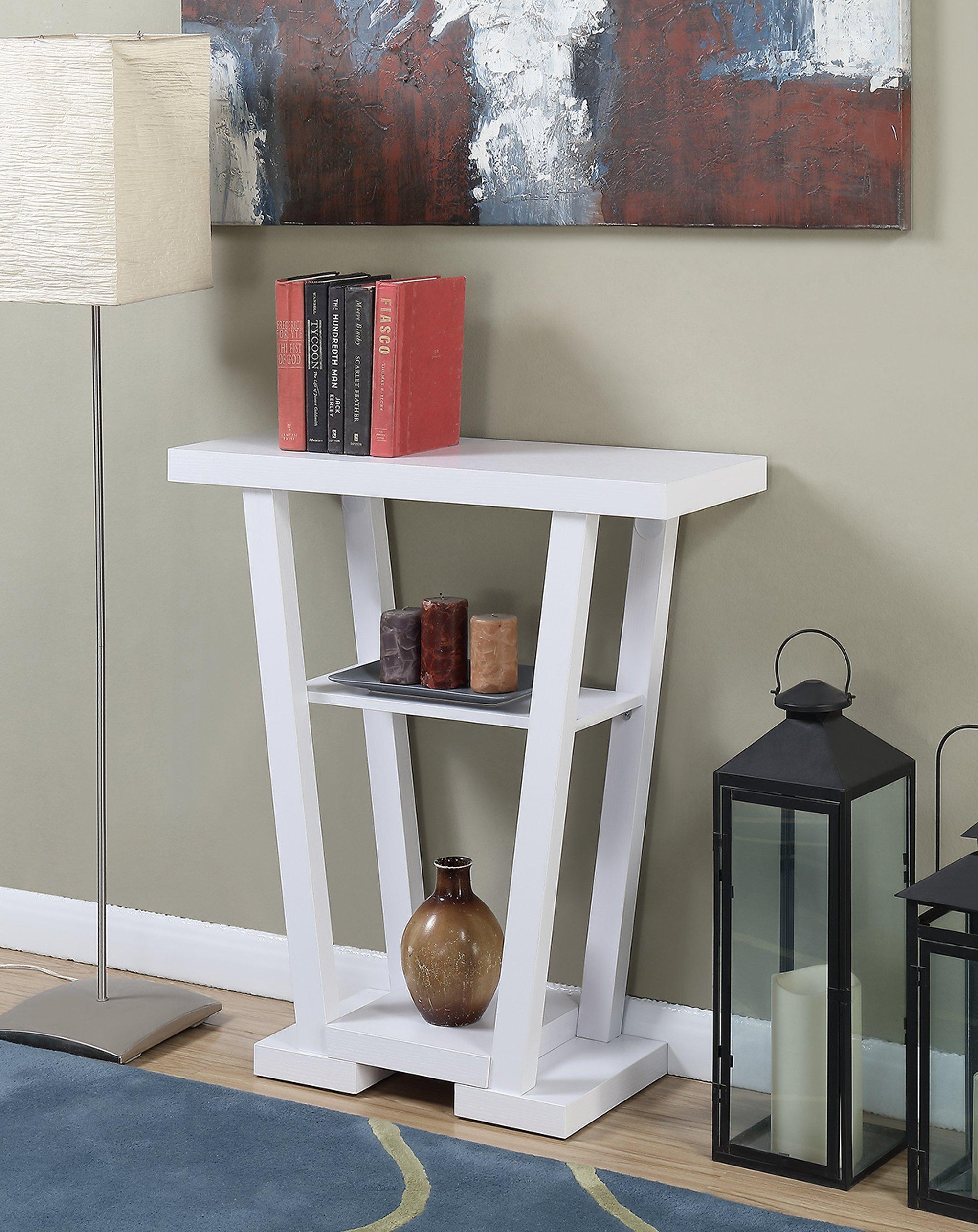 Convenience Concepts Newport Console Table, White