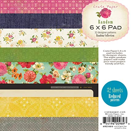 Amazon american crafts paper pad 6 by 6 inch crate paper random american crafts paper pad 6 by 6 inch crate paper random mightylinksfo