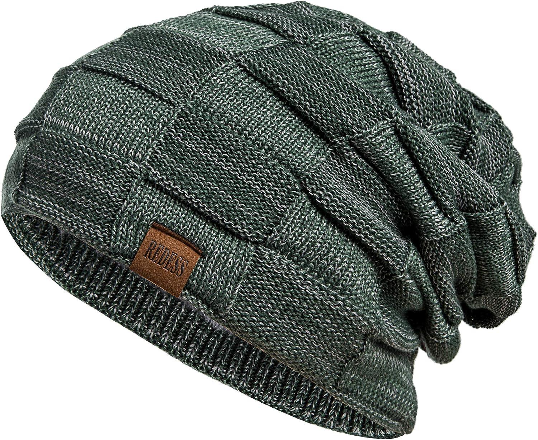 REDESS Bonnet en tricot /épais pour homme et femme