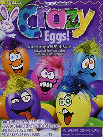 Amazon.com: R.J. Rabbit Easter Unlimited Crazy Eggs Coloring Kit ...