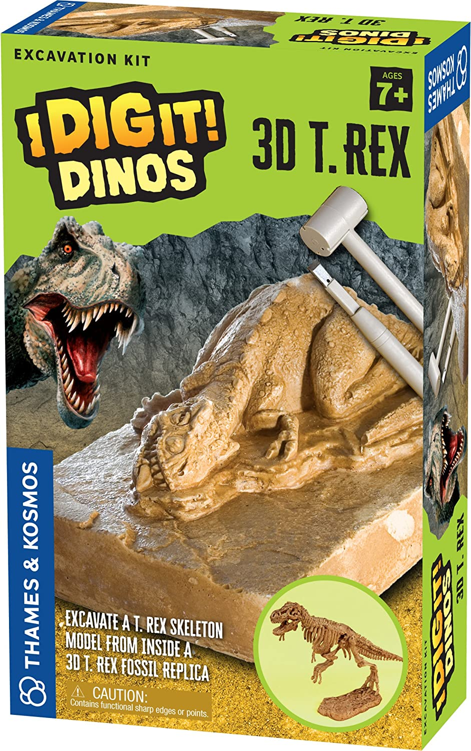 Thames & Kosmos I Dig It Dinos-3D T. Rex Excavation Kit Science Experiment 657550