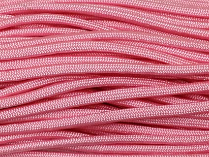425 Paracord Rope 3 strand Cord Rose Pink 100 Feet