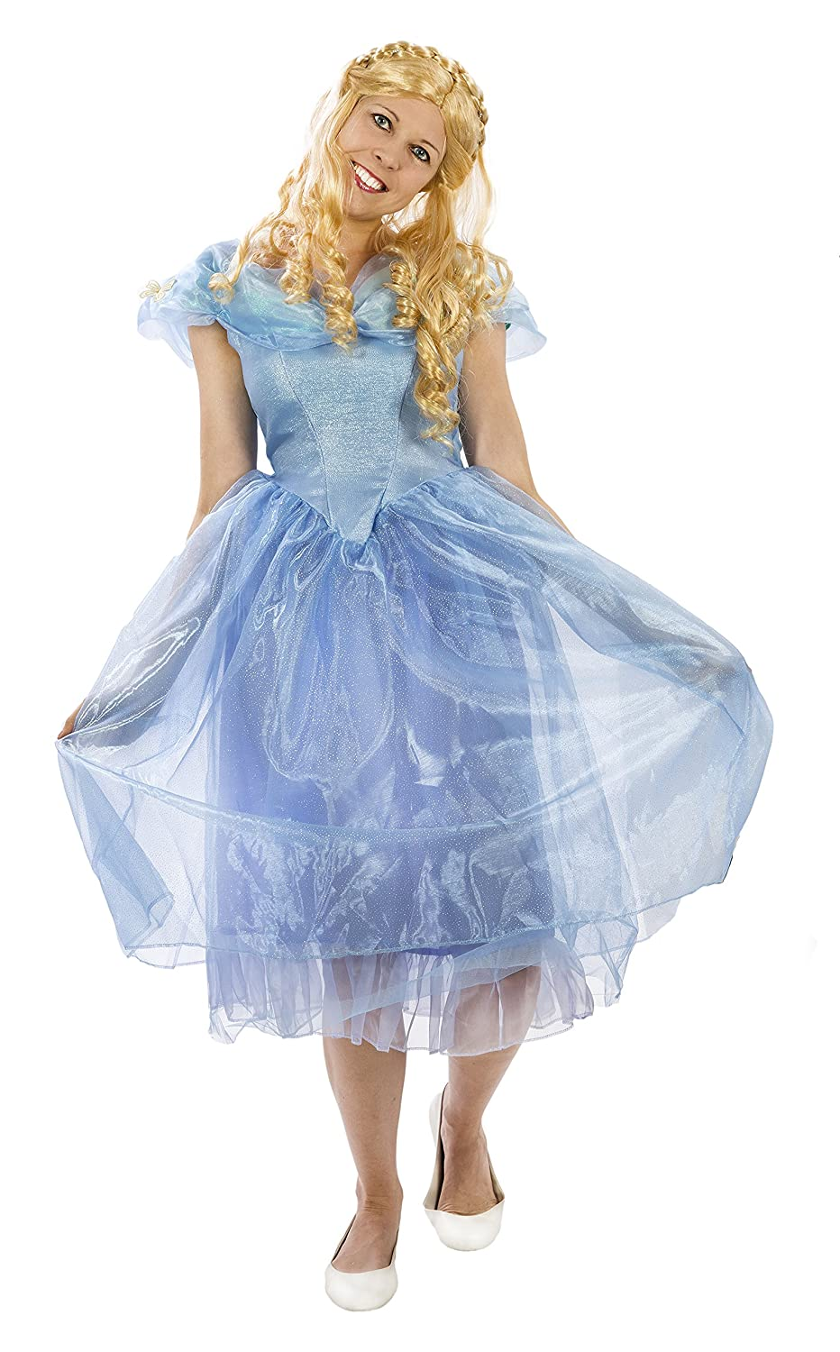 Amazon.com: Maven Gifts Disguise Womens Cinderella Movie Adult Deluxe with  Wig Large: Clothing