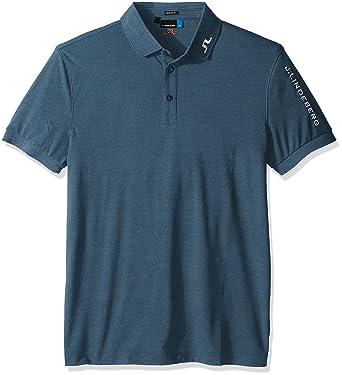 Amazon.com  J.Lindeberg Men s Tour Tech Reg Tx Jersey, Blue Melange ... 2fb7f25438