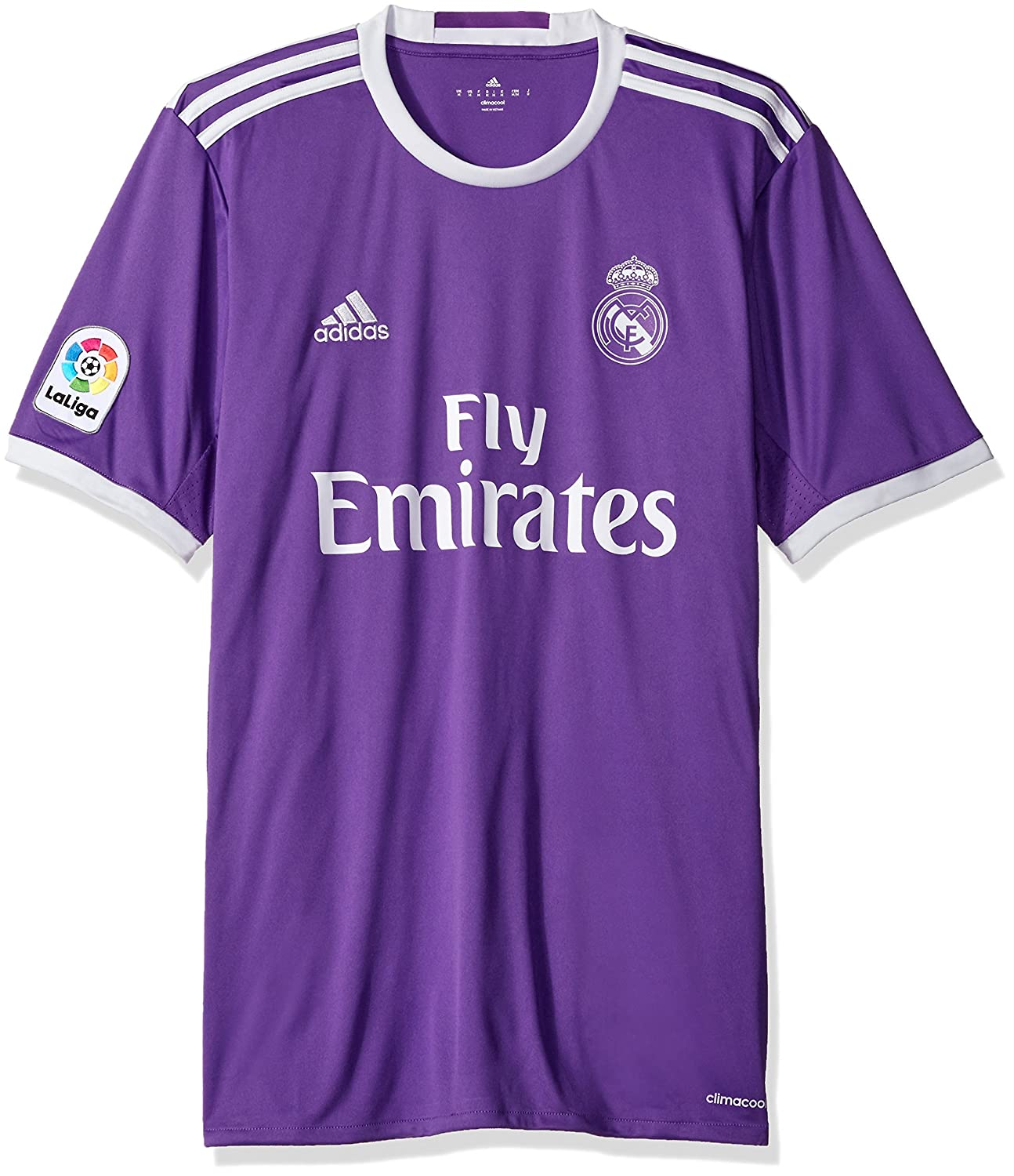 1f8d26ce454 Amazon.com   adidas Men s Real Madrid 16 17 Away Ray Purple Crystal White  Jersey   Sports   Outdoors