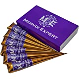 Mehndi Expert Cone Box - Natural Henna - No Chemicals/Dyes - Pack Of 6 Cones