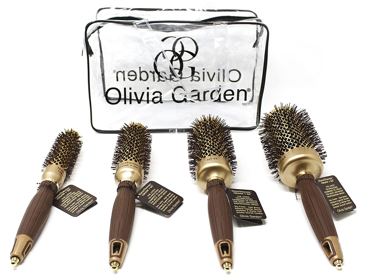 Olivia Garden NanoThermic Ceramic Ionic Round Thermal 4 Brushes Kit