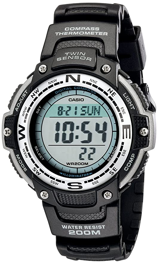 Casio Mens Digital Compass Twin Sensor Sport Watch