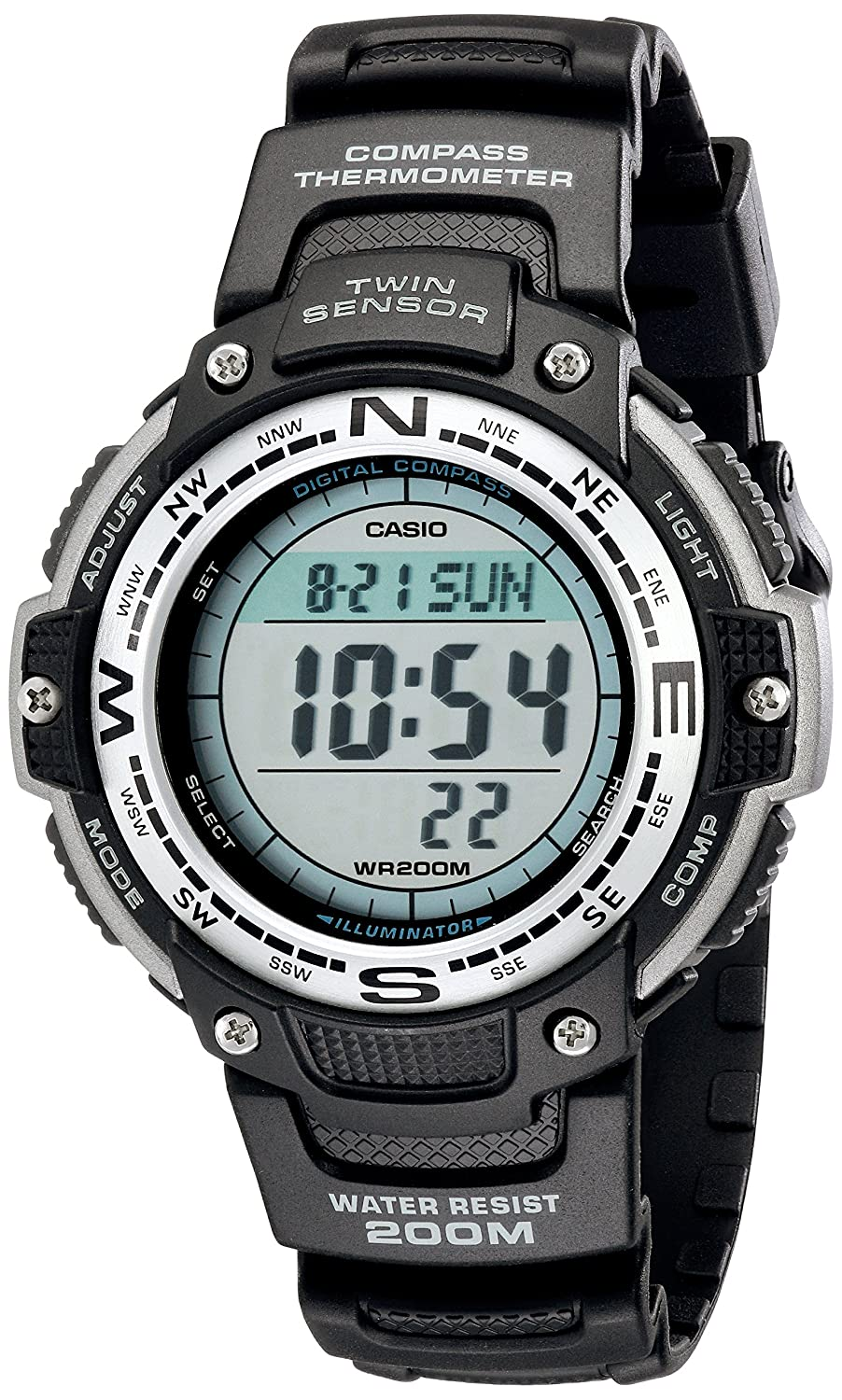 Casio men 39 s sgw100 1v twin sensor digital black watch 79767898441 ebay for Watches with compass