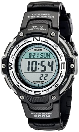 3b305a839eb Amazon.com  Casio Men s SGW100-1V Twin Sensor Digital Black Watch ...