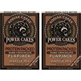 Kodiak Cakes Power Cakes, Dark Chocolate Flapjack and Waffle Mix, 18 Ounce (2 Pack)