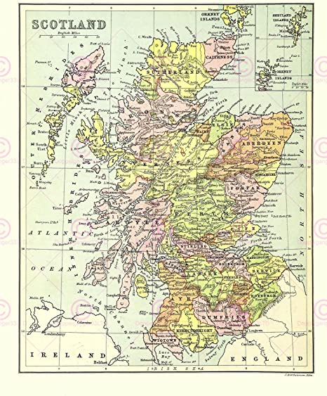 This is a graphic of Printable Map of Scotland in outline