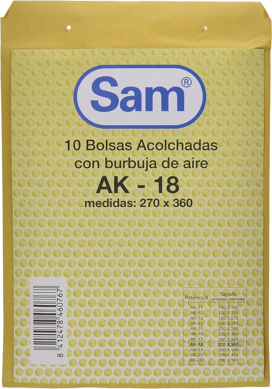 SAM 18 - Bolsa de burbujas, 10 Unidades