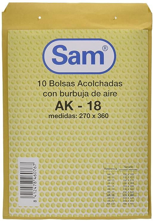Amazon.com : PACK 10 BOLSA KRAFT ACOLCHADA AK-18 AUTOAD ...