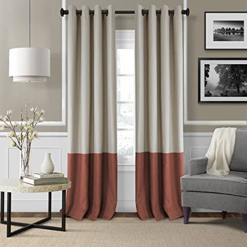 Elrene Home Fashions 26865874747 Braiden Room Darkening Grommet Window Curtain Drape Panel