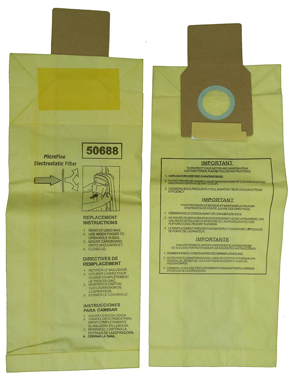 9 Kenmore Sears 50688/50690 U Vacuum Bags, Upright, Canister, Panasonic U-2, Miele Z, Sanyo PU-1 Vacuum Cleaners, MC-117PF, MC-E400, S170i, S170 - S179, S185, S300, SC-A or SC-U