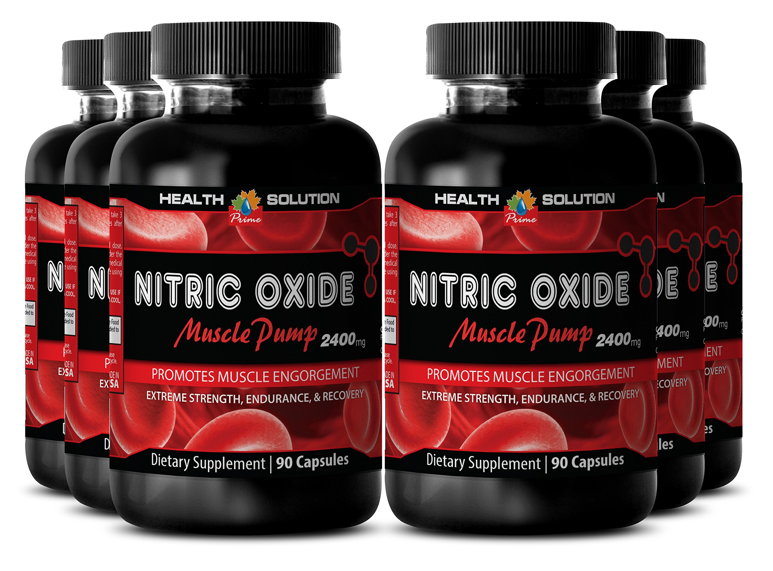 Nitric oxide supplements for sex - NITRIC OXIDE MUSCLE PUMP 2400MG - for sexual performance (6 Bottles)
