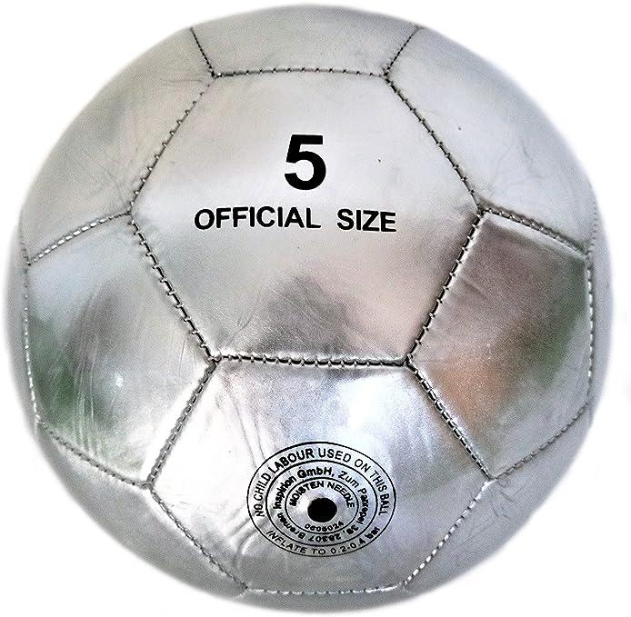 DYNO Balón de fútbol Sala Cromo Plateado Light de colección NR 5 ...
