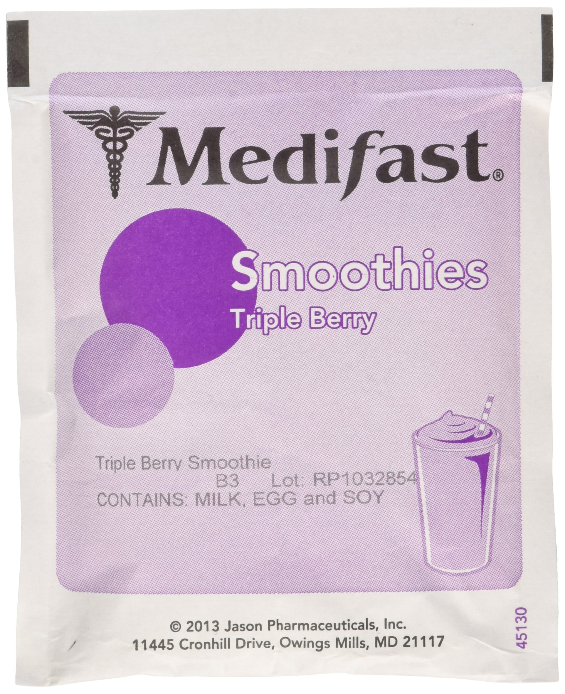 Medifast Triple Berry Smoothie (1 Box 7 Servings)