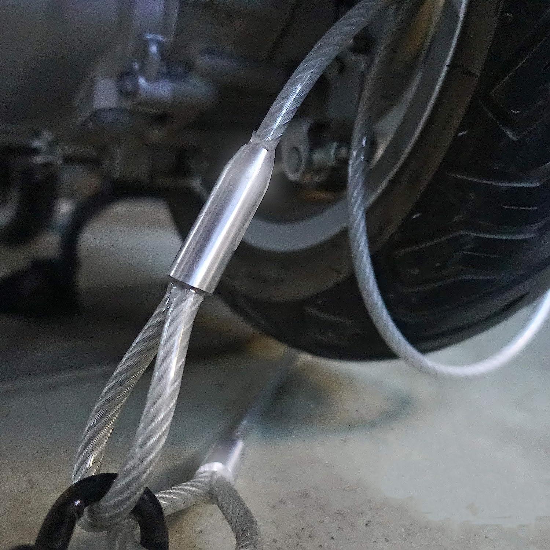 Fahrrad Schlaufenkabel 2 auf 3 Stahlkabel mit Schlaufen St/ärke:3mm Diebstahlsicherung f/ür Gartenm/öbel Terrassenm/öbel | L/änge:0,5m Drahtseile24 Stahlseil ummantelt mit /Ösen