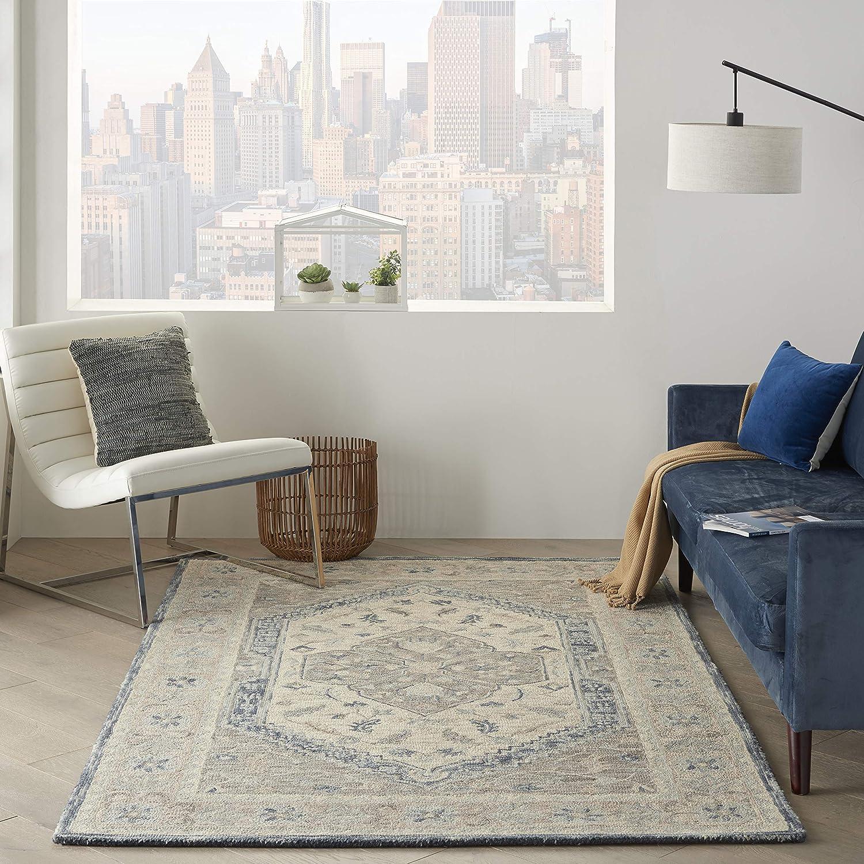 Amazon Com Nourison Bahari Persian Traditional Grey 5 X7 Area Rug 5 X 7 Furniture Decor
