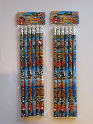 Pirate Pencils pack of 6