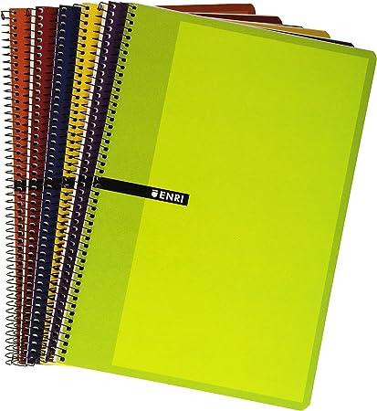 Enri 103024504 - Pack de 10 cuadernos con espiral simple ...