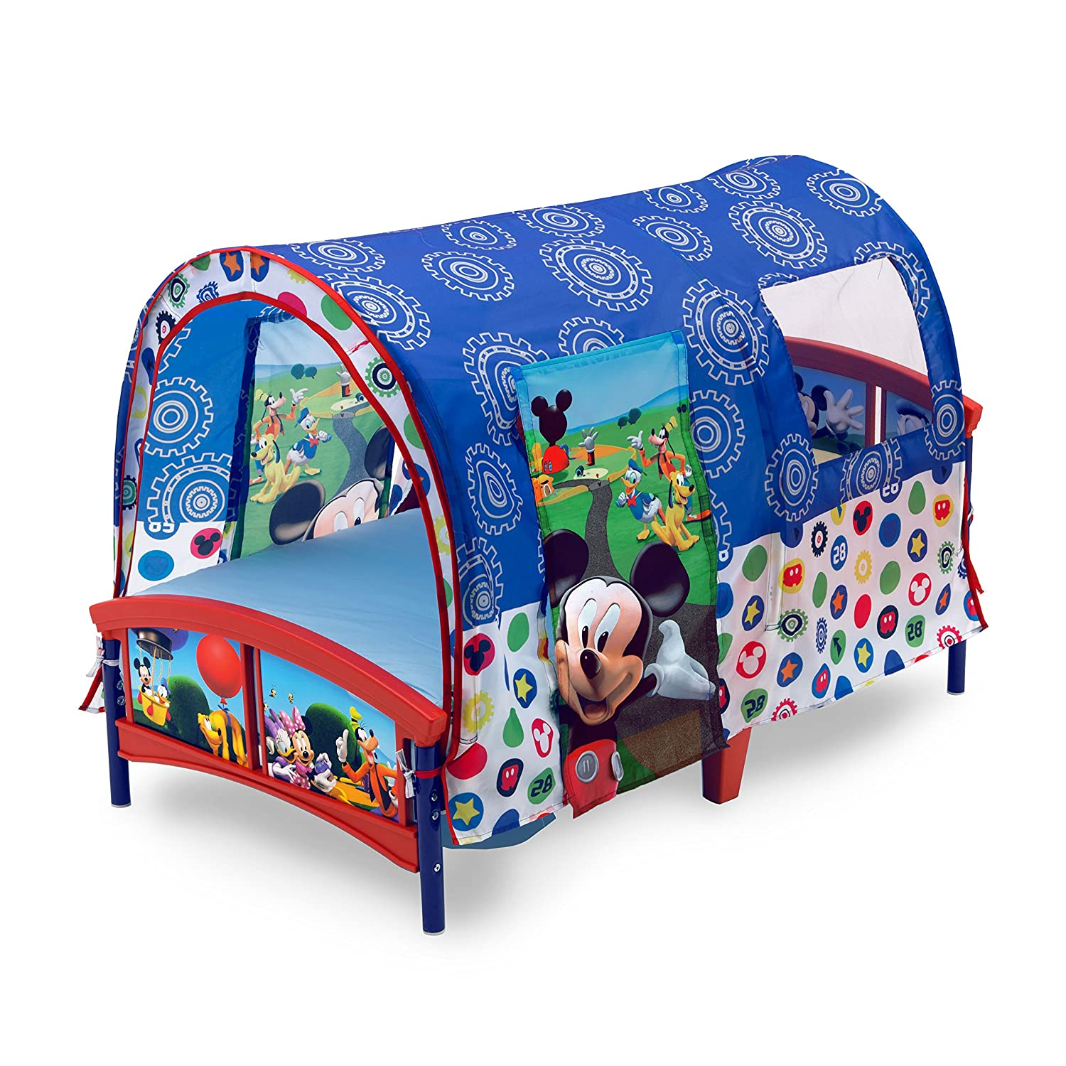 the best attitude cfbee f2421 Delta Children Toddler Tent Bed, Disney Mickey Mouse